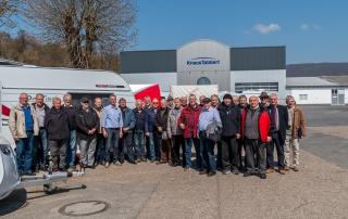 Besichtigung des Arbeitskreis 60+ der Firma Knaus Tabbert in Sinntal-Mottgers